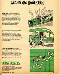 1973 Print Ad of Southern Railway System Grain Freight Train Shipment  $9.99