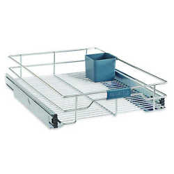 Real Simple Sliding Under Cabinet 11 Inch Organizer in Chrome
