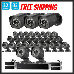 Zmodo 32 NVR System HD Outdoor Motion Surveillance Security Camera Night Vision