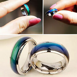 Mood Ring Solid Heavy Stainless Steel SHIPS FROM USA