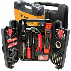 Large Tool Set Household Garage Mechanics 131 pc All Purpose Hand Tools Kit Case $19.99