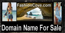 Fashion Cove .com Beach Wear Shirts Dress Shoes Domain Name for Sale Clothing