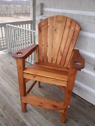 3 Bar Height Adirondack Chairs and FREE Planter (Pine With Exterior Finish)