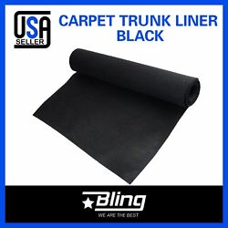 6ft x 8ft Bass Boat Marine Black Carpet Cut Pile Interior Floor Decorate Replace