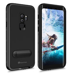 For Samsung Galaxy S9 Plus Waterproof Case Cover with Screen Protector Kickstand $15.98