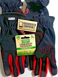 Working Hands Utility gloves with touch screen 2 pair size Large $15.88