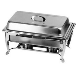 Thunder Group 8qt Stainless Steel Full Sized Foldable Frame Chafing Dish $63.73