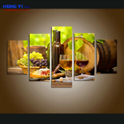 Grapes Wines Fruits HD Print Painting Canvas Kitchen Wall Art Office Home Decor $149.99