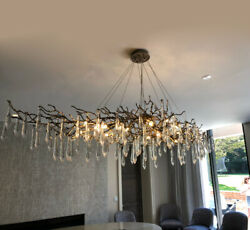 Large Copper Branches Chandeliers Coloured Glaze Chandelier Light Lighting