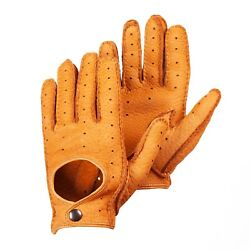 Peccary Leather Gloves Driving Gloves Cork $128.00