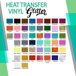 Glitter Iron On Heat Transfer Vinyl 12
