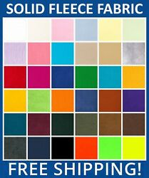 Solid Fleece Fabric - 60