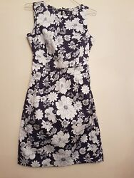 Ref 62 - F&F - Ladies Womens Girls Blue White Floral Summer Evening Dress Size 8 $9.96