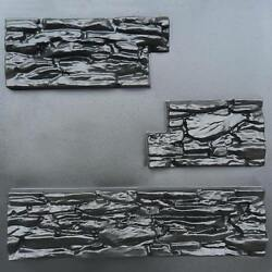 Plaster Stone Wall Branches Mold 3D Tile Panels Plastic Form Art Decor ABS New $49.95