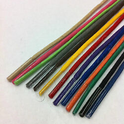 Colored Waxed Cotton Dress Shoelaces Round Oxford Shoe Laces Strings Shoestrings $4.95