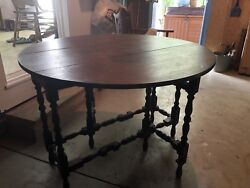 Antique Gate Leg Table ~ Beautiful!!!  (See New Pictures)