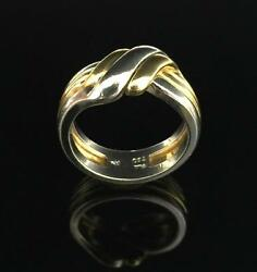 Platinum and 18 Karat Yellow Gold Infinity Knot Wedding Band Men's or Women's