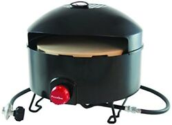 Outdoor Pizza Oven Portable Propane Gas Pre Heat Camping Patio Cooking in Black