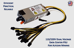 Dual Voltage High Efficiency Power Supply For Antminer E3  L3+  Z9 mini  X3  $84.95