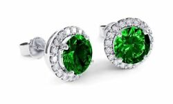 Women 925 STERLING SILVER Plated Princess STUD Queen CZ Crown Earrings 8mm Gift