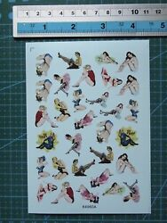 1 48 decals Nose Art girls for model kits 64960a $7.99