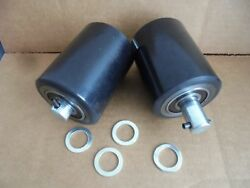 A Pair of Brand New Pallet Jack Poly Load Wheels With Bearings 2.875