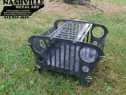 Mini Steel Jeep Fire Pit  BBQ Grill - Outdoor Camping Gift Idea