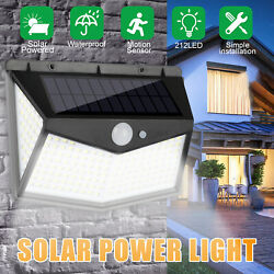212 LED Solar Waterproof Power PIR Motion Sensor Wall Light Outdoor Garden Lamp $16.97