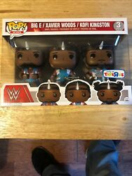 Funko POP! Big E Xaviers Woods Kofi Kingston WWE Exclusive New Day 3 Pack