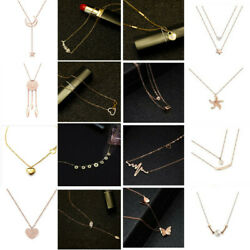 High Quality Stainless Steel Necklace Fashion Pendant Women Rose Gold Jewelry