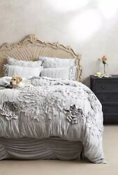 NIP Anthropologie Georgina Twin Duvet with a Pair of Standard Shams Sky Color $255.00