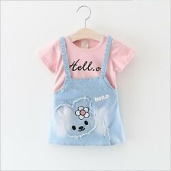 Baby Girls Dress Summer Cartoon Infant Party Dresses for Girls Clothing $9.89