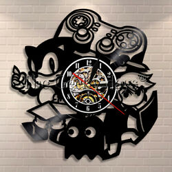 Video Game Wall Clock Home Decor Gamers Vinyl Record Wall Clock Game Boys Gift $22.49
