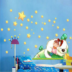 Star Girls Wall Stickers for Kids Rooms Daycare Wall Decorations Nursery Decor $10.00