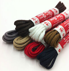 Dress Shoe Thin Round Laces Shoelaces Boot Strings Colored Shoestrings BootLaces $4.95