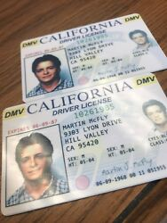 Back to the Future Fake Drivers License Prop Marty McFly Novelty HIGH QUALITY $4.99
