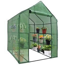 8 Shelves 3 Tiers Greenhouse Portable Mini Walk In Outdoor MINI Planter House $56.99