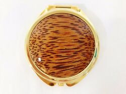 Handmade Exotic Wood Compact Mirror by Wood U Like Studio in Los Angeles CA