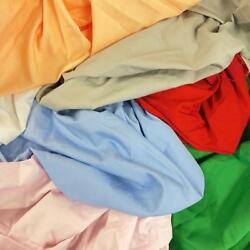 100% Cotton Broadcloth Fabric 59quot; Wide Solid Colors Apparel Garment Per Yard $5.40