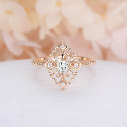 Women's Rose Gold Filled Jewelry Wedding Rings White Sapphire Size 6-10