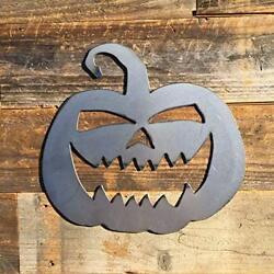 Rustic Home Laughing Pumpkin Sign 12 x 12 Farmhouse Metal Holiday Wall Halloween $21.99