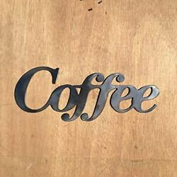 Rustic Home Coffee Sign 10 x 3 Farmhouse Metal Words Kitchen Wall Decor $19.99