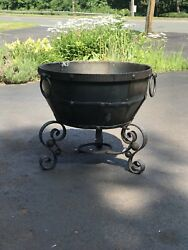 wrought iron fire Bowl