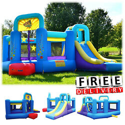 Inflatable Bounce House Slide Bouncer Blower Yard Outdoor Playground