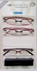 Foster Grant Xtra Sight 3 Pack Reading Glasses