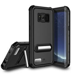 For Samsung Galaxy S8 Plus Waterproof Case Cover with Kickstand Screen Protector $16.98