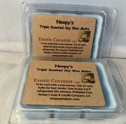 2 EXOTIC COCONUT type* Triple Scented Soy Wax NOOPY'S Melts Tarts Wickless $9.26