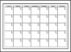 Wall White Calendar Planner Dry Erase Board Marker Monthly Office Large 24 x 18 $15.40