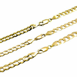 Solid 14k Yellow Gold 4MM 7MM Curb Chain Cuban Link Necklace Size 16quot; 30quot; $429.30
