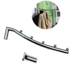 38cm Stainless Steel Wall Mount Clothes Hanger Rack Hook WSwing Arm Holder Hot